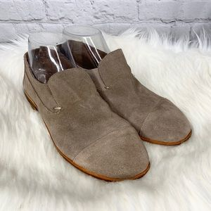 Jeffrey Campbell Barkley Suede Cap Toe Loafers